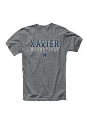 Xavier Musketeers Grey Wornout Short Sleeve T Shirt