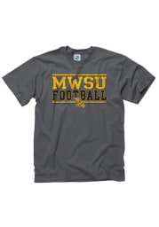 Missouri Western Griffons Charcoal Football Short Sleeve T Shirt