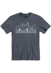 Cincinnati Navy Blue Skyline Short Sleeve T Shirt