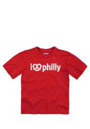 Philadelphia Toddler Red I Pretzel Philly Short Sleeve T Shirt