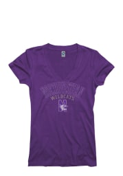 Northwestern Wildcats Juniors Purple Ageless V-Neck T-Shirt