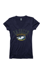 La Salle Explorers Juniors Navy Blue Varsity Ageless V-Neck T-Shirt