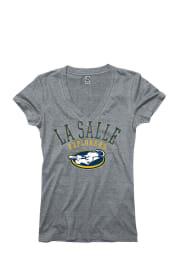 La Salle Explorers Juniors Grey Varsity Ageless V-Neck T-Shirt