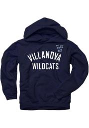 Villanova Wildcats Kids Navy Blue Arc Long Sleeve Hoodie