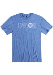 Dayton Blue Flag Wordmark Short Sleeve T Shirt