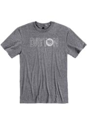 Dayton Grey Flag Wordmark Short Sleeve T Shirt