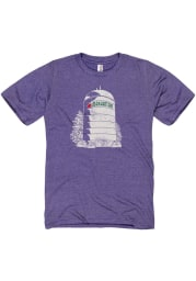 Manhattan Purple Water Tower Short Sleeve T Shirt