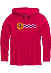 St Louis Red St. Louis Flag Long Sleeve Light Weight Hood