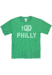 Philadelphia Youth Kelly Green I Pretzel Philly Short Sleeve T Shirt
