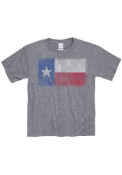 Texas Youth Grey State Flag Short Sleeve T Shirt