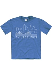 Philadelphia Youth Blue Skyline Glow Short Sleeve T Shirt