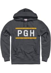 Pittsburgh Dark Grey PGH Block Long Sleeve Hood Sweatshirt
