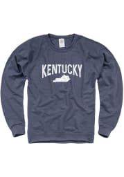 Kentucky Mens Navy Blue Wordmark Arch Long Sleeve Crew Sweatshirt
