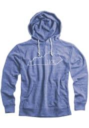 Kentucky Blue State Local Long Sleeve Hood Sweatshirt