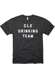 Cleveland Black Drinking Team Short Sleeve T Shirt