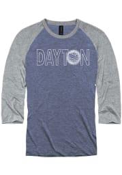 Dayton Blue City Flag Logo Raglan ¾ Sleeve T Shirt