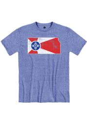 Wichita Blue City Flag State Short Sleeve T Shirt