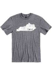 Kentucky Grey State Shape Love Short Sleeve T Shirt