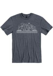 Pittsburgh Navy Skyline Short Sleeve T Shirt