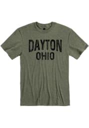 Dayton Olive Green Wordmark Short Sleeve T Shirt