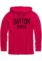 Dayton Red Wordmark Long Sleeve Light Weight Hood