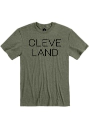 Cleveland Heather City Green Disconnected Short Sleeve T Shirt