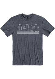 Fort Worth Navy Skyline Short Sleeve T Shirt