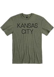Kansas City Olive Green Disconnected Short Sleeve T Shirt