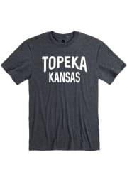 Topeka Dark Grey Wordmark Short Sleeve T Shirt