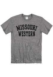 Missouri Western Griffons Grey Snow Heather Team Name Short Sleeve T Shirt