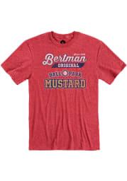 Bertman Mustard Heather Red Logo Short Sleeve T Shirt