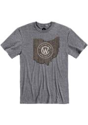 Cleveland Whiskey Graphite Barrel Short Sleeve T Shirt