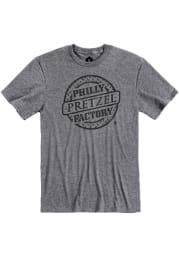 Philly Pretzel Factory Graphite Logo Short Sleeve T Shirt