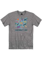 Cincinnati Zoo Graphite Map Short Sleeve T Shirt