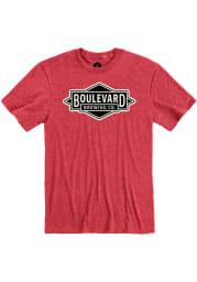 Boulevard Heather Red Diamond Logo Short Sleeve T Shirt