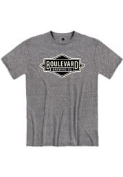 Boulevard Graphite Diamond Logo Heather Short Sleeve T Shirt