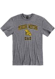 Missouri Western Griffons Grey Dad Graphic Short Sleeve T Shirt
