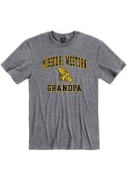 Missouri Western Griffons Grey Grandpa Graphic Short Sleeve T Shirt