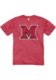 Miami RedHawks Red Big Logo Short Sleeve T Shirt
