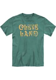 Cleveland Women's Light Green Floral Comfort Colors Unisex Short Sleeve T-Shirt