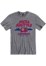 Pizza Shuttle Heather Graphite Lawrence Van Short Sleeve T-Shirt
