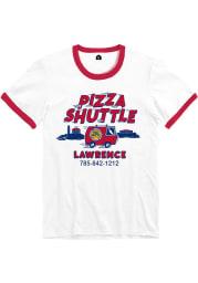 Pizza Shuttle Lawrence Van Ringer Short Sleeve T-Shirt - White