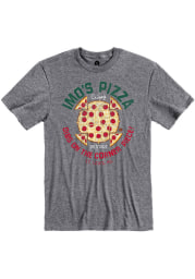 Imo's Pizza Heather Graphite Call the Corner Piece Short Sleeve T-Shirt