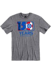 Wichita Graphite 150 Years Short Sleeve T Shirt