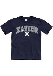 Xavier Musketeers Youth Navy Blue Arch Mascot Short Sleeve T-Shirt