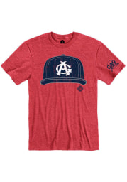 Rally Chicago American Giants Red Cap Short Sleeve Fashion T Shirt