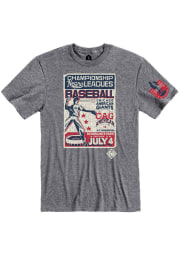 Rally Chicago American Giants Grey Poster Inspired Short Sleeve Fashion T Shirt