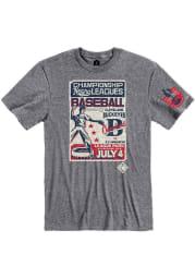 Rally Cleveland Buckeyes Grey Poster Inspired Short Sleeve Fashion T Shirt