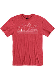 Cincinnati Heather Red Skyline Short Sleeve T-Shirt