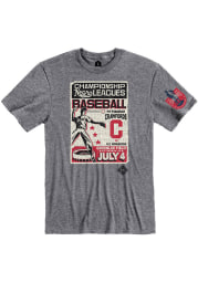 Rally Pittsburgh Crawfords Grey Poster Inspired Short Sleeve Fashion T Shirt
